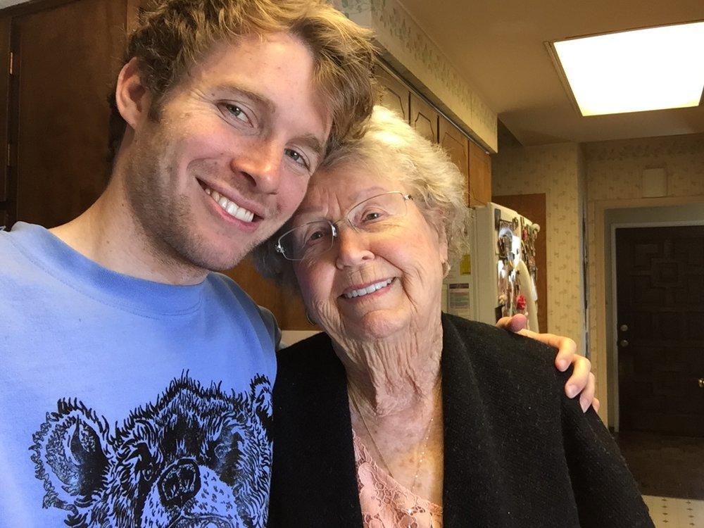 Justin and Grandma