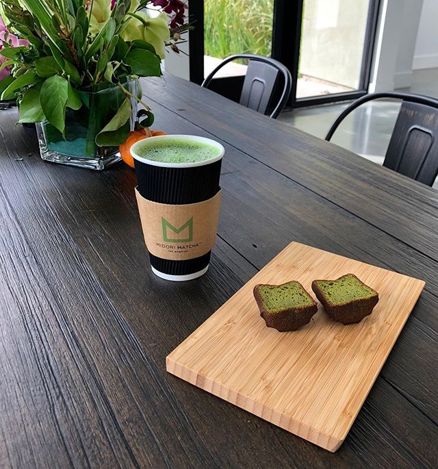 Let the morning pours begin. Our Old Town Pasadena location is now open as of 7am for you to get your morning Matcha energy fix.🌱 - 📸Organic Imperial Grade Matcha Americano + Matcha Canele.