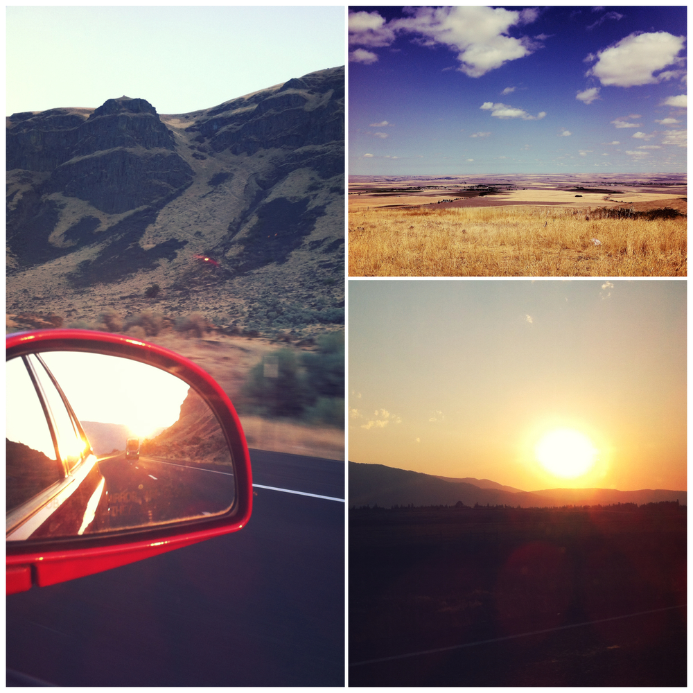 This collage was from a trip from Eugene to Pendleton, Oregon.