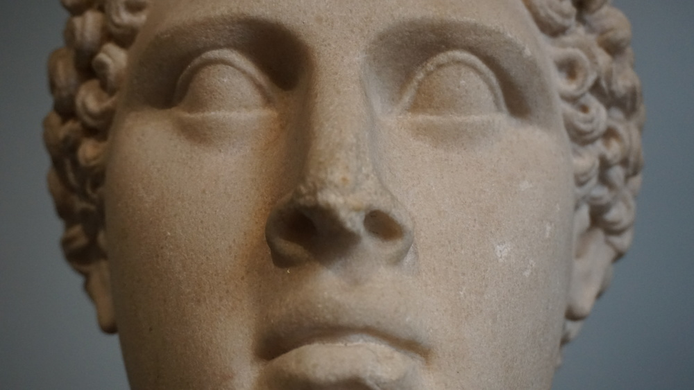 Marble head of Ptolemaic ruler, perhaps Apion, King of Cyrene