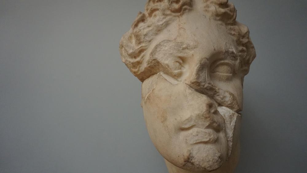 Marble head of Apollo