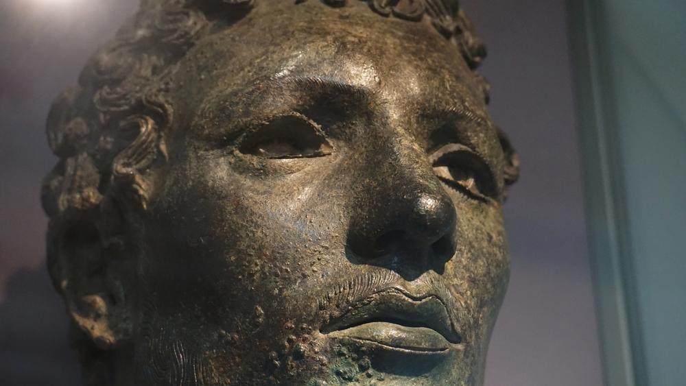 Bronze head of north African