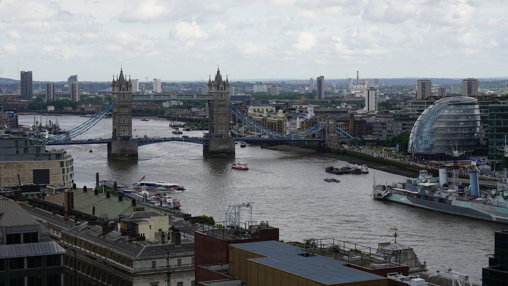 View of Tower Bridge from the Monument