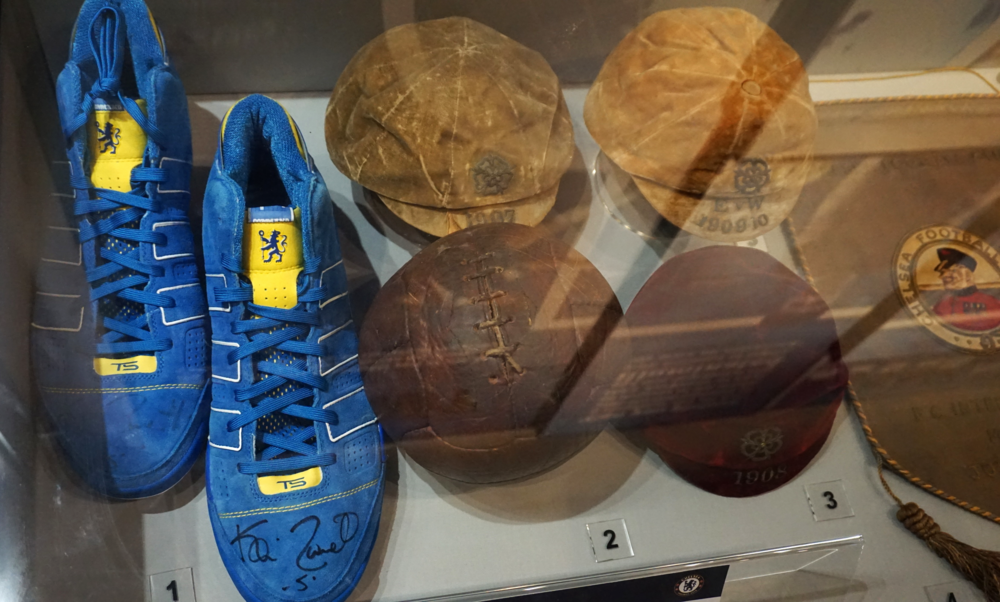 Museum - old football (soccer) shoes