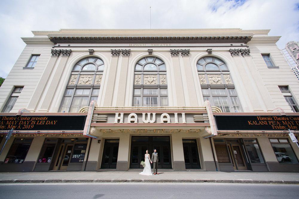 The historic Hawaii Theatre