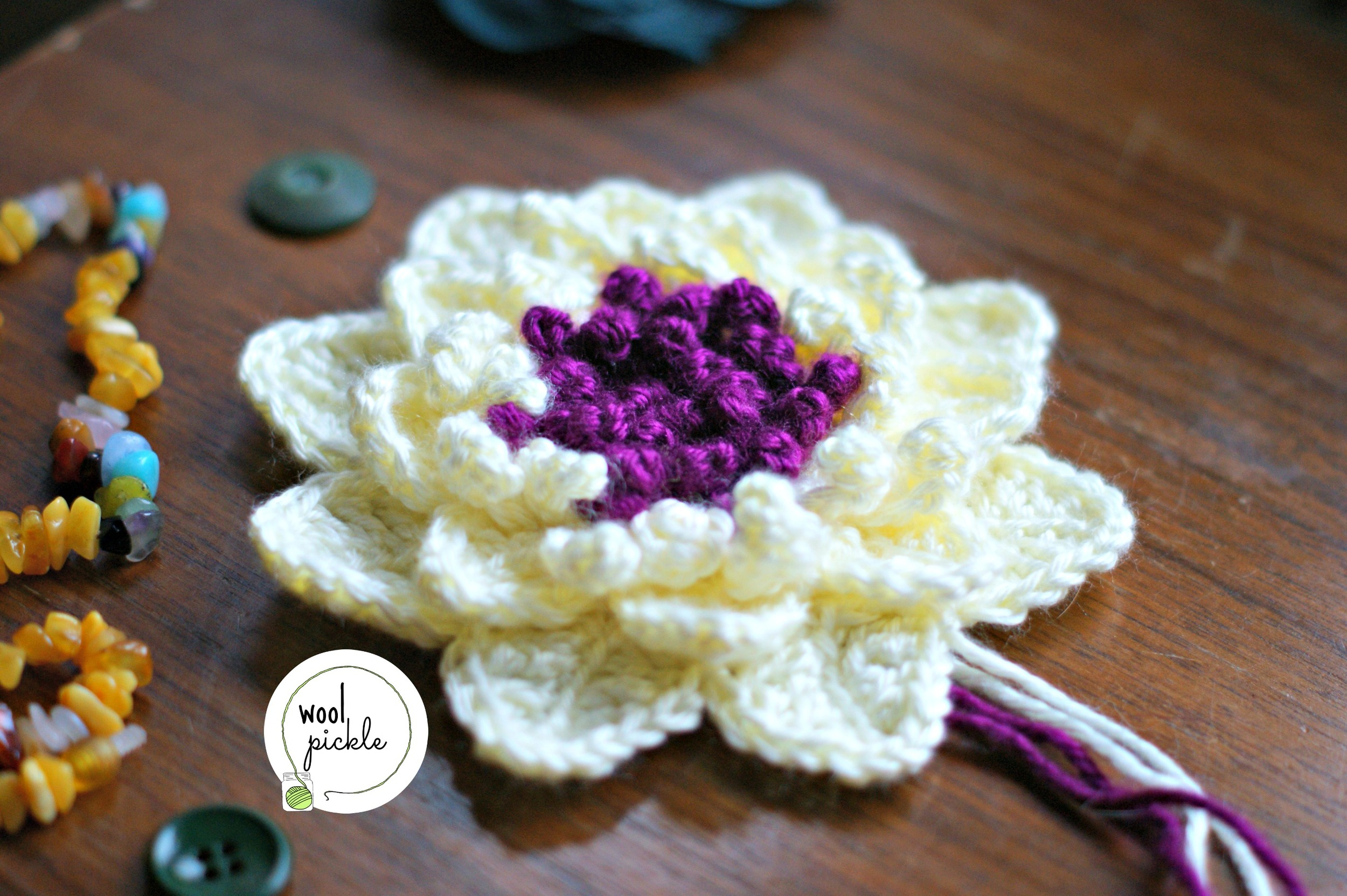Lotus Flower And Blanket Planning Wool Pickle