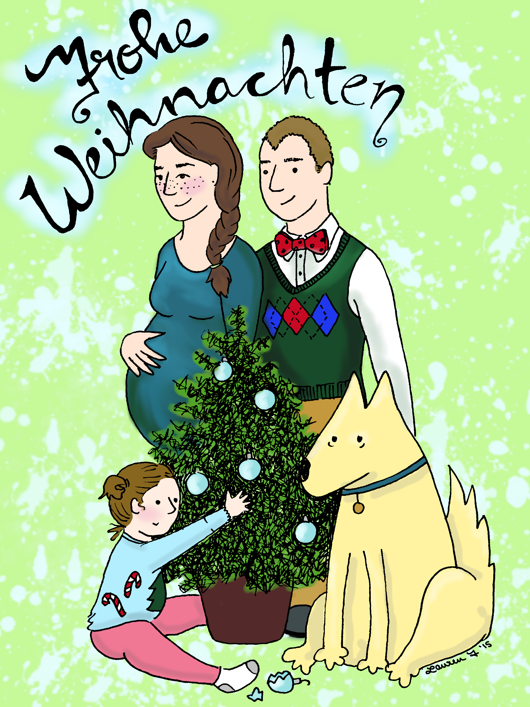 Christmas Card Colored