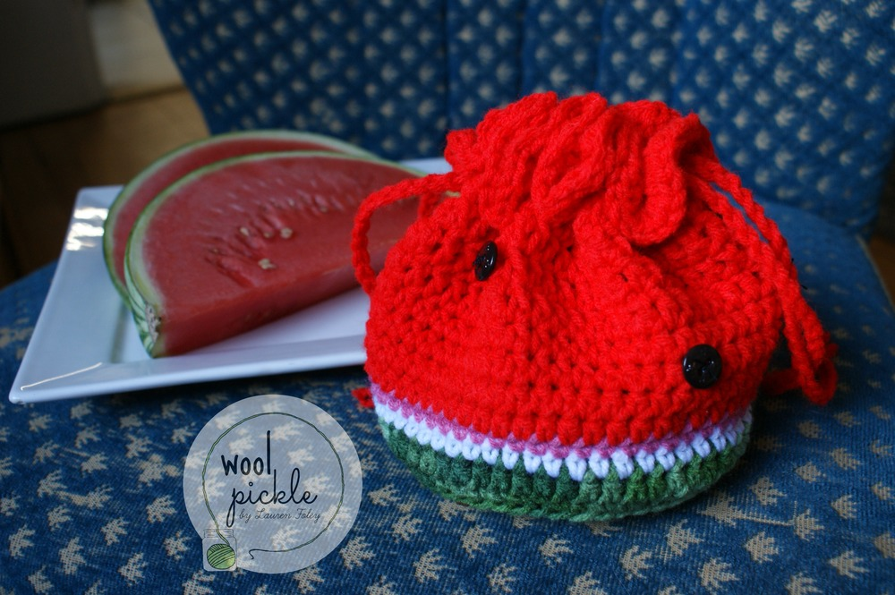 Watermelon Drawstring Bag Tutorial Wool Pickle