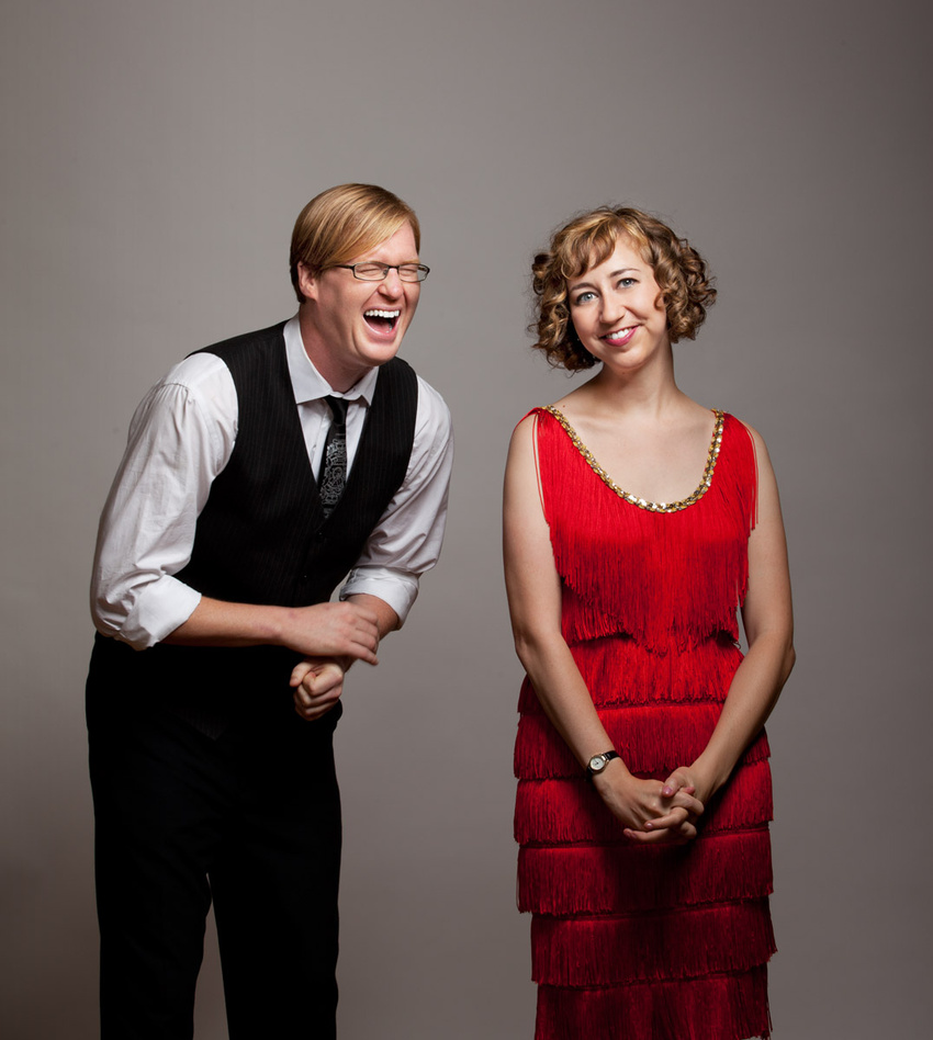 Kurt Braunohler and Kristen Schaal