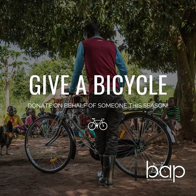 Searching for the perfect gift? Give a BAP Bicycle this holiday season and we'll email them to let them know the difference their gift is making on the ground in Uganda. You'll also be helping us reach our year-end goal of raising $150,000 to double our impact in 2019! #GiveABicycle