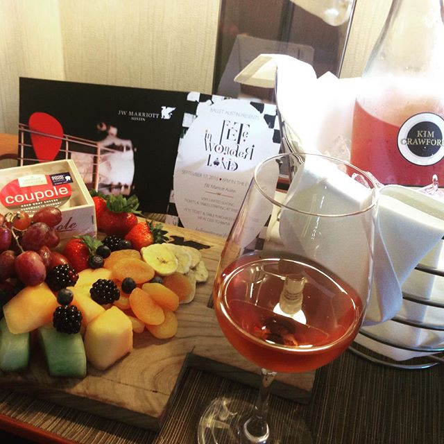 Awwwww..thank you to my rock stars at #jwmarriottatx ! You sure know how to make a party planner blush (and fuel up for the next 31 hours)! Cheers to another fabulous Fête together.  See you down the rabbit hole... . . . . . #balletaustin #feteatx, #feteishatx #rubyrogersevents, #roséallday #jwmarriottatx #galaseason #eventprof