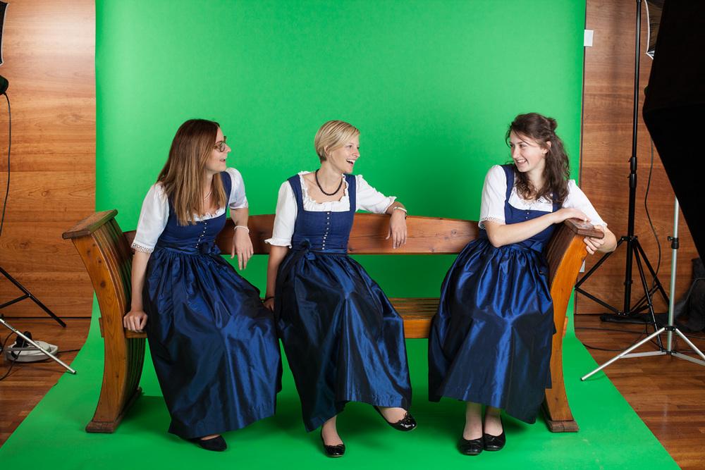 Die reizenden Marketing-Ladies der Schmittenhöhebahn AG...