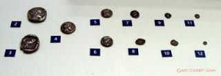 Athenian coins drachm obol