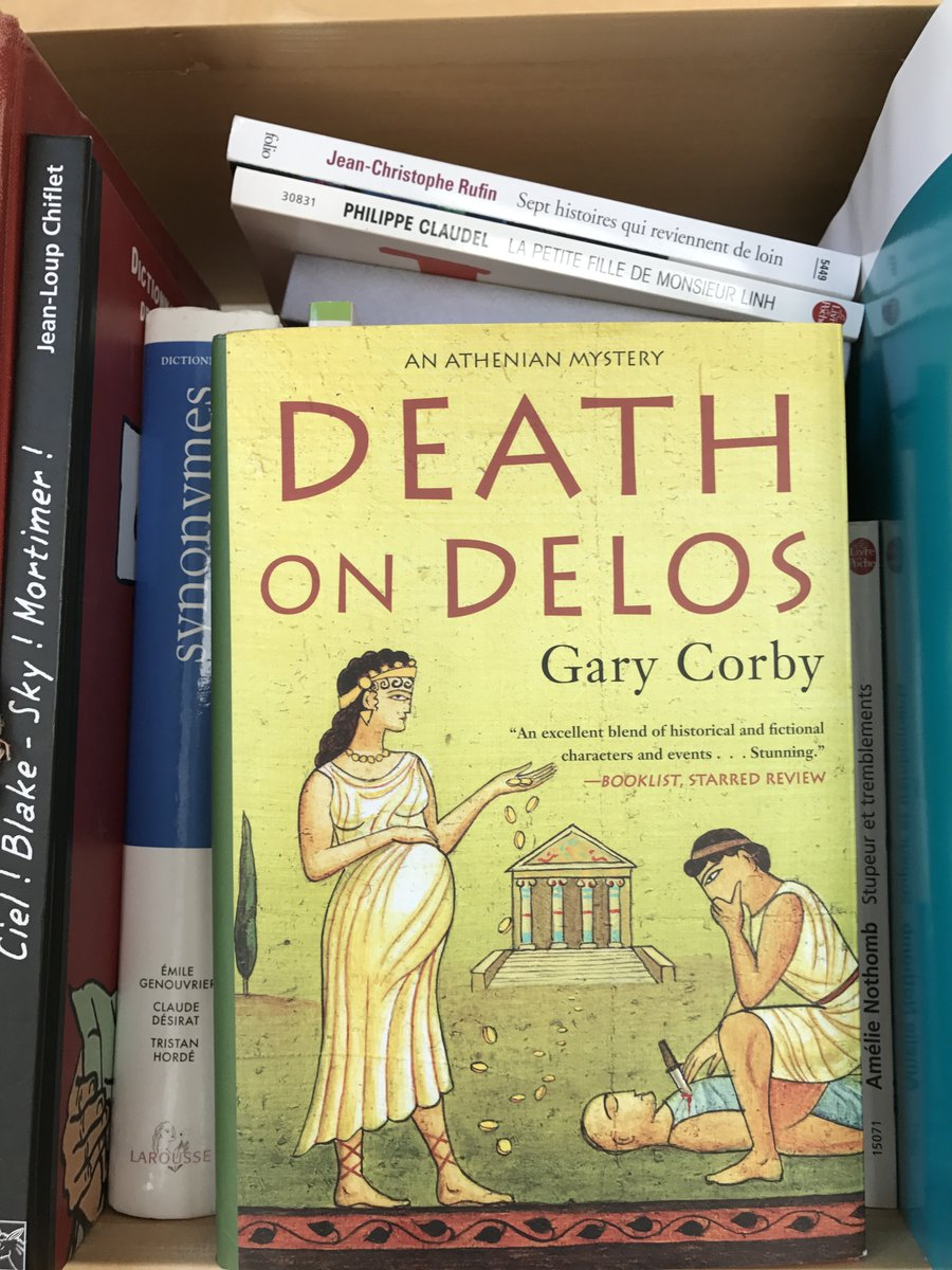On the sacred isle of Delos, the priestess Diotima, multitasker extraordinaire, must tamp down the turmoil created by brutish politico Pericles, solve a tricky murder, and then give birth. - Kirkus Reviews Photo by Claire Bobrow