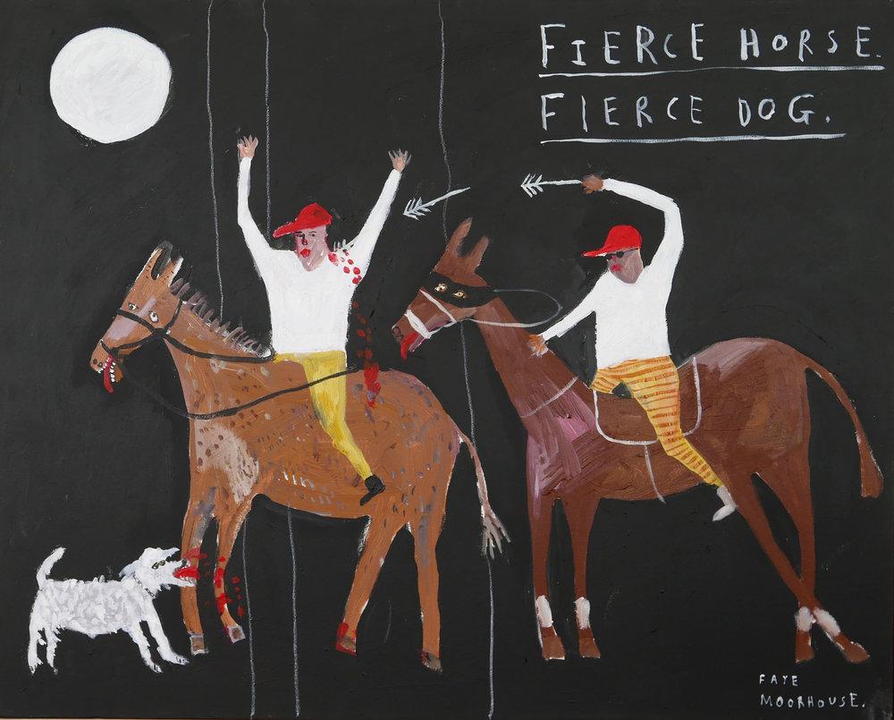 'Fierce Horse. Fierce Dog' Acrylic on canvas.  SOLD
