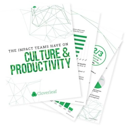 Complete the above survey and get our full report on our previous research project: The Impact Teams Have On Culture & Productivity