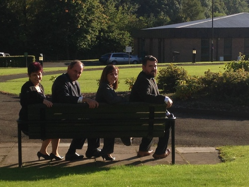 From Left: Michelle Mckearnon, General Sir Nick Parker, Becci Parris, Shaun Cauvin