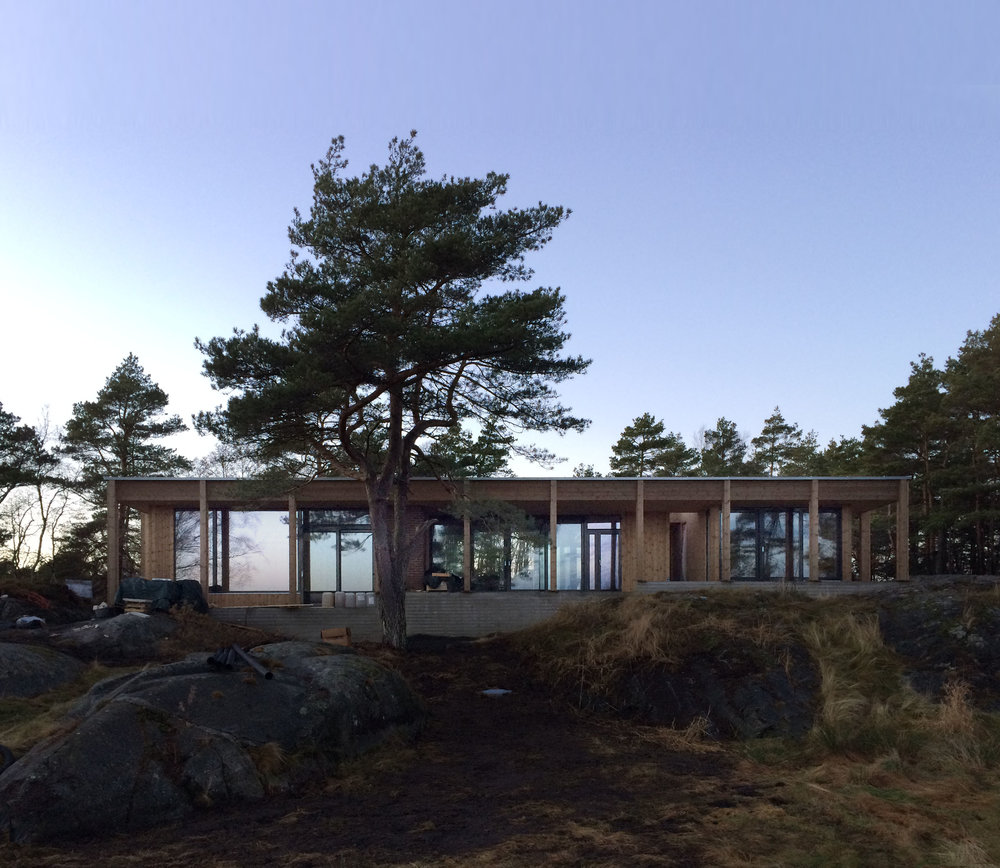 12/2016 - Hytte Risør - tett bygg før jul 👏🔨