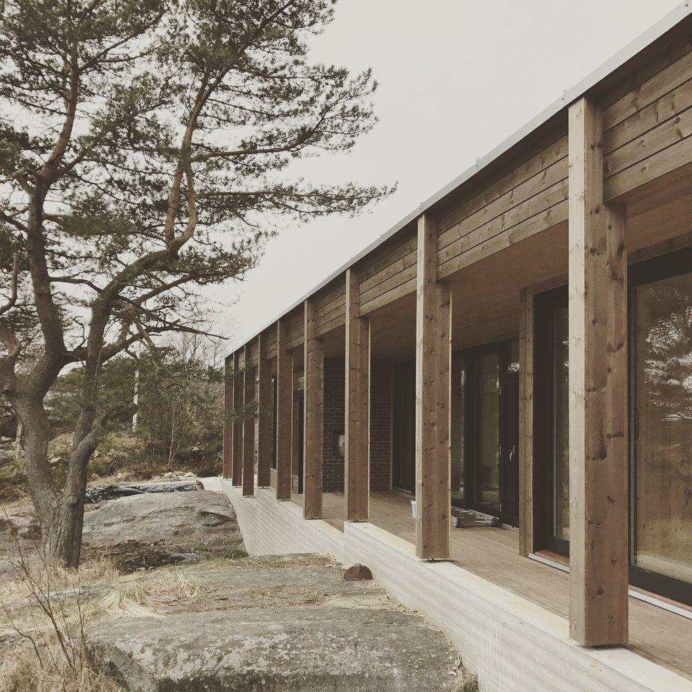 3/2017 - Nå nærmer det seg ferdigstillelse for hytte Risør :D