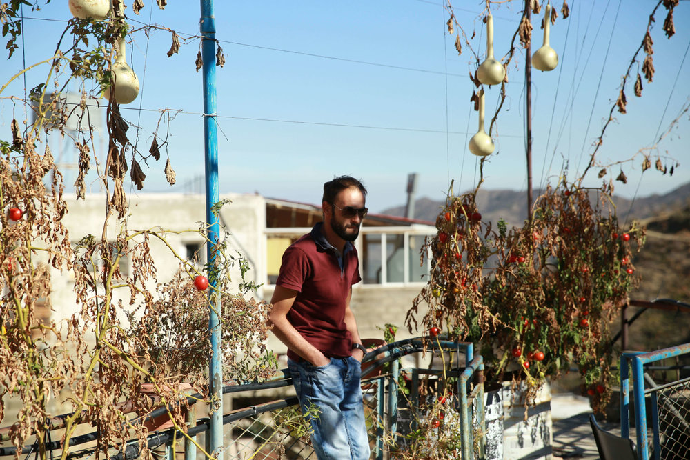 at the Youth Center's garden at Polystipos village, Cyprus
