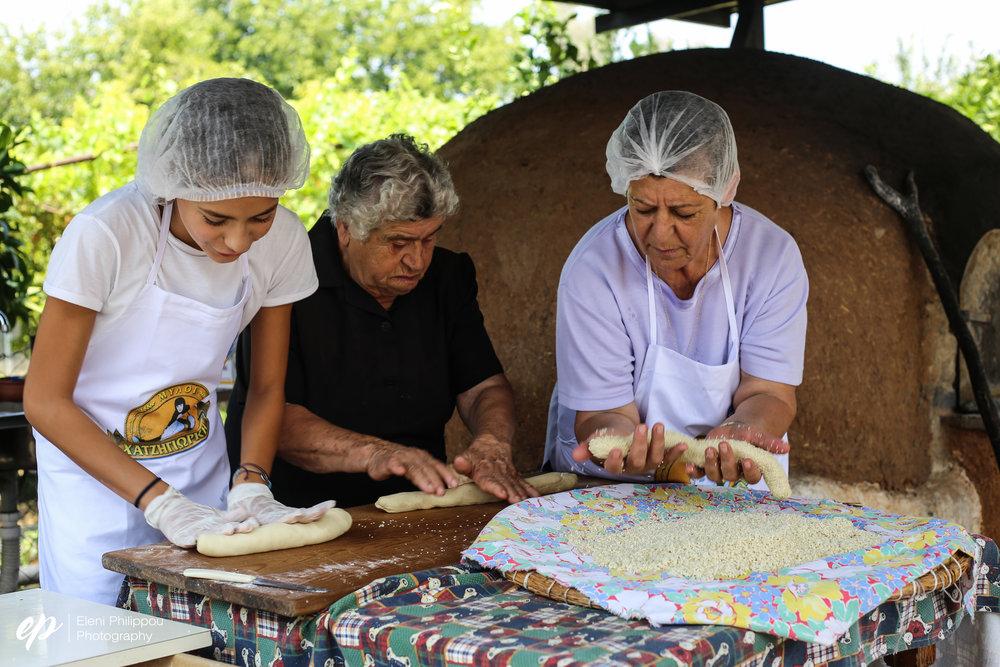 Three generations of bread-making