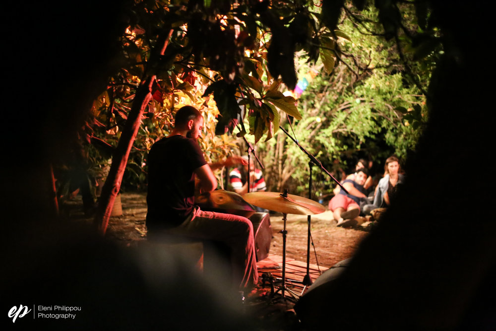 Vasilis Vasiliou playing the hand drum