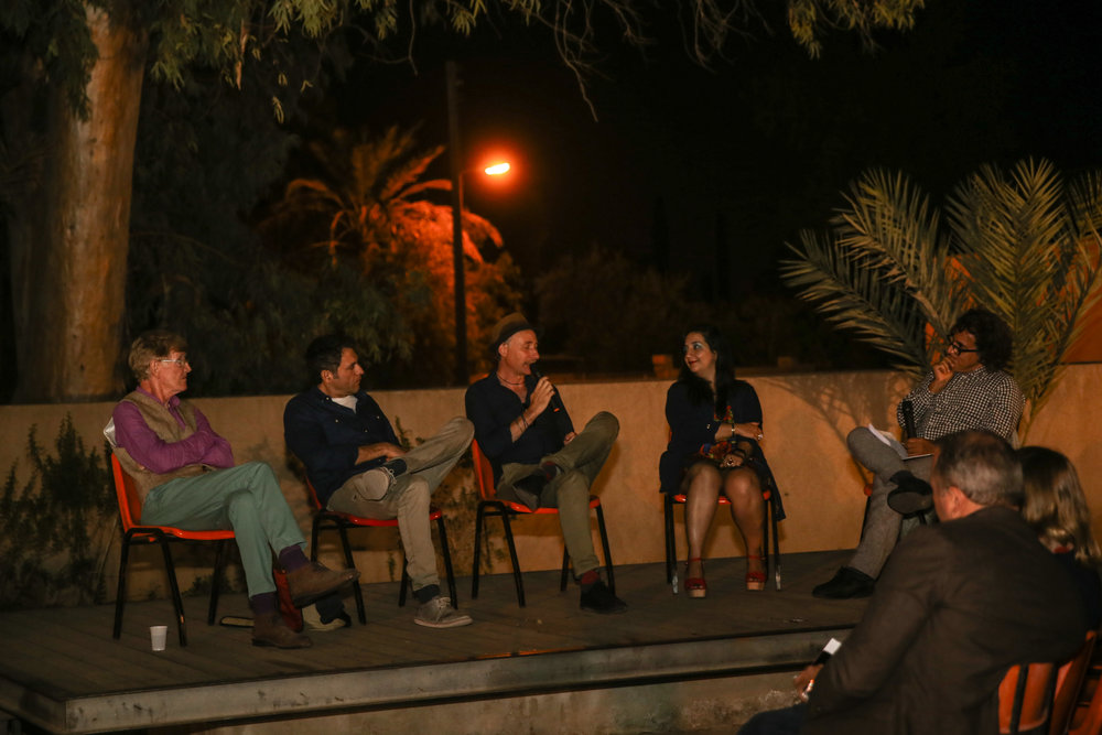 post-film panel discussion in Nicosia