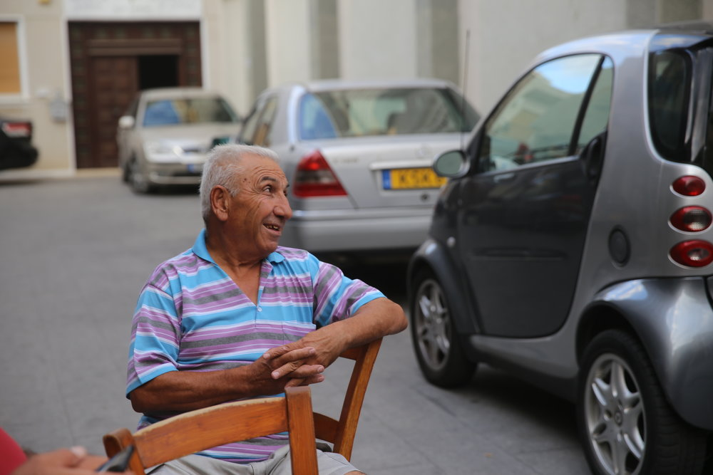 Old man in Old Nicosia, Cyprus
