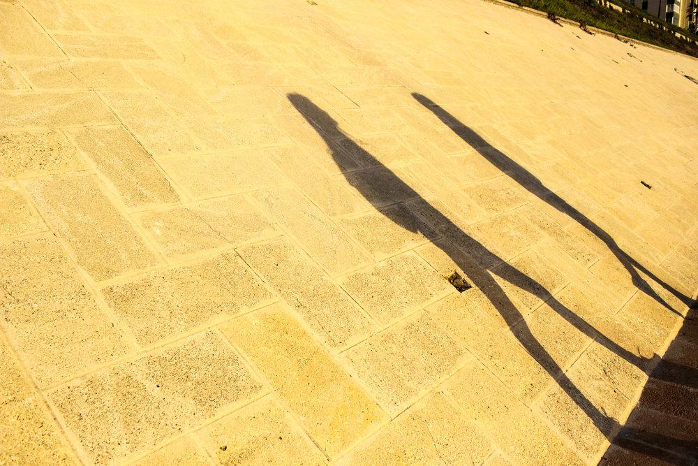 Shadows in Cadiz, Spain