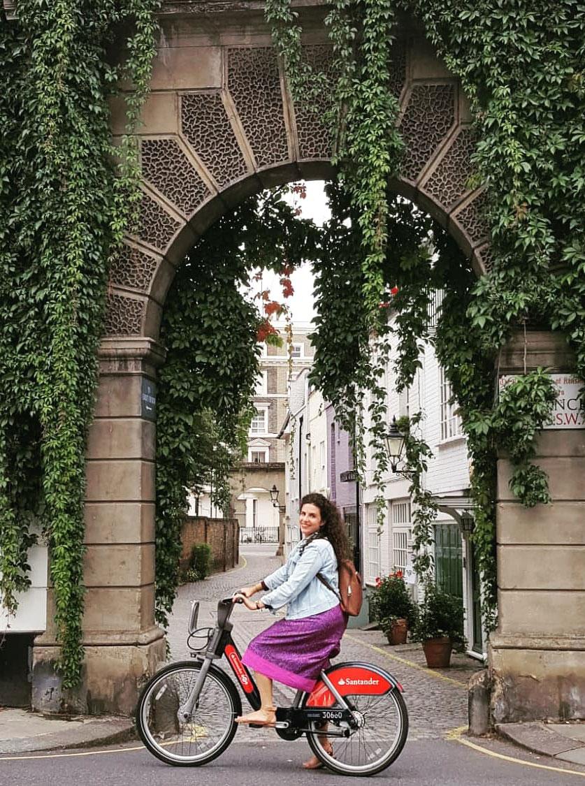 Eleni-Philippou cycling in London