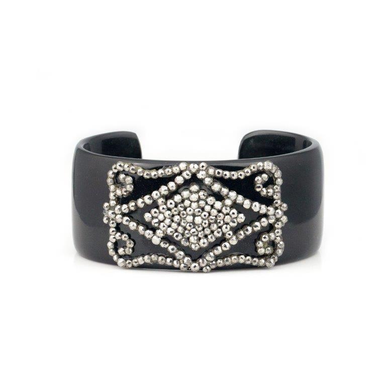 Horn Cut Steel Bracelet