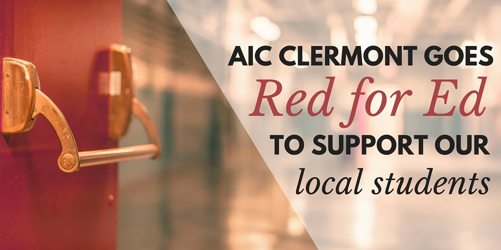AIC Clermont Goes Red for Ed to support our local students