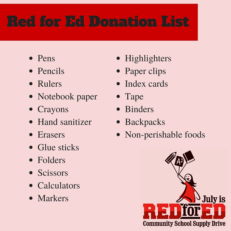 Red for Ed Donation List
