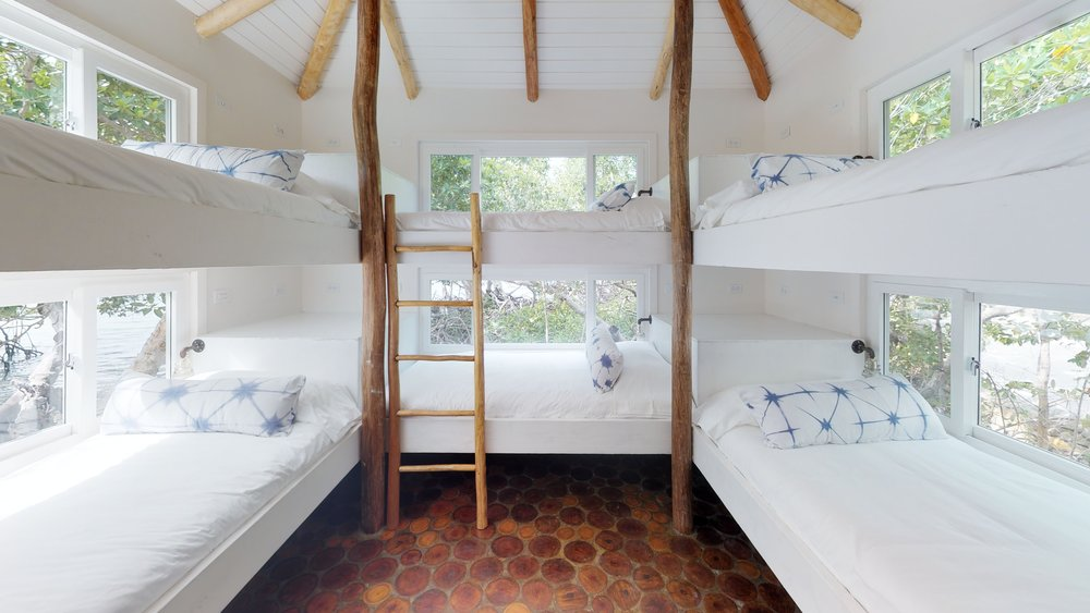 Introducing the Royal Bunkhouse - The latest addition to the island sleeps up to 6 in twin-sized beds with all the comfort guests are accustomed to on Royal Belize. With this, we can now accommodate up to 16 guests at a time.Learn More
