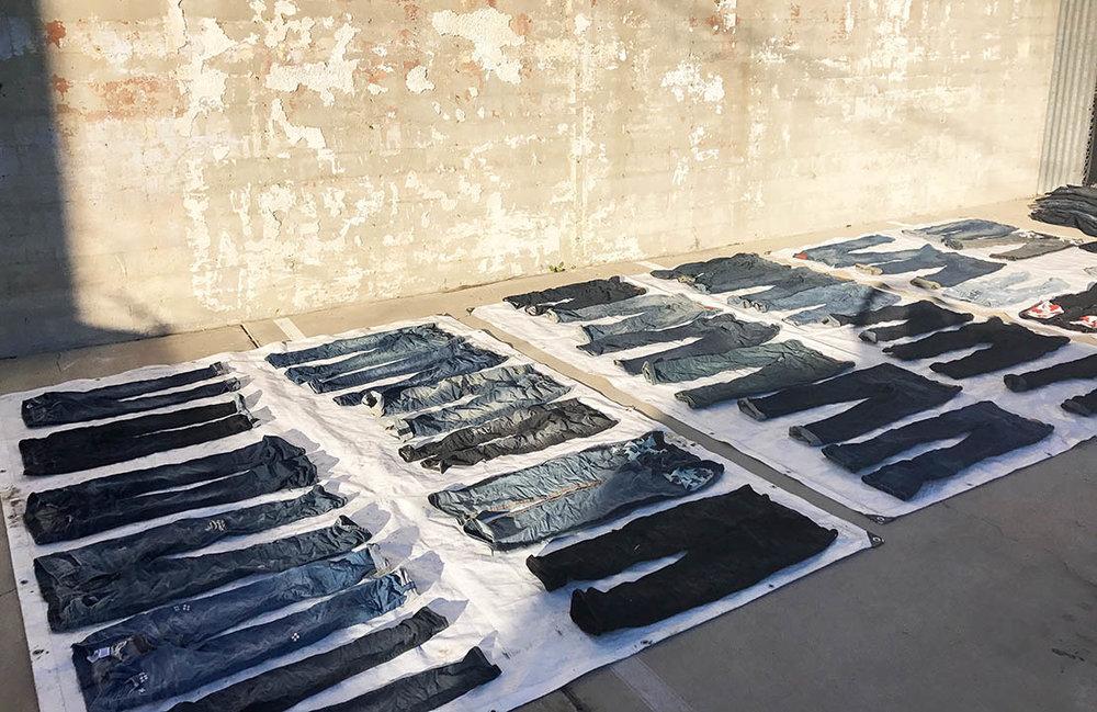 photo | treated denim drying