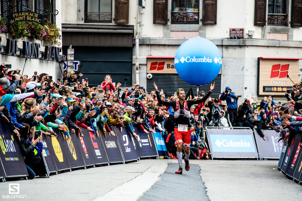 Francois D'Haene won the Tour de Ultra Trail du Mont Blanc for the third time this year