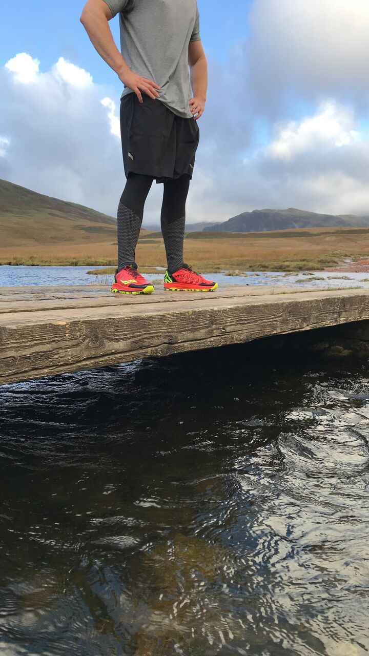 Testers took the Saucony ST through a stream near Scafell Pike (copyright:Dave MacFarlane)