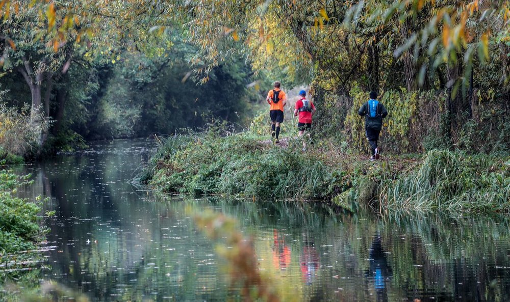 The race goes 15 miles up the River Stort and then back again. Credit: Stuart March