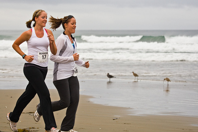 Runners reported boosted mental health in a recent survey (credit:  Mike Baird )