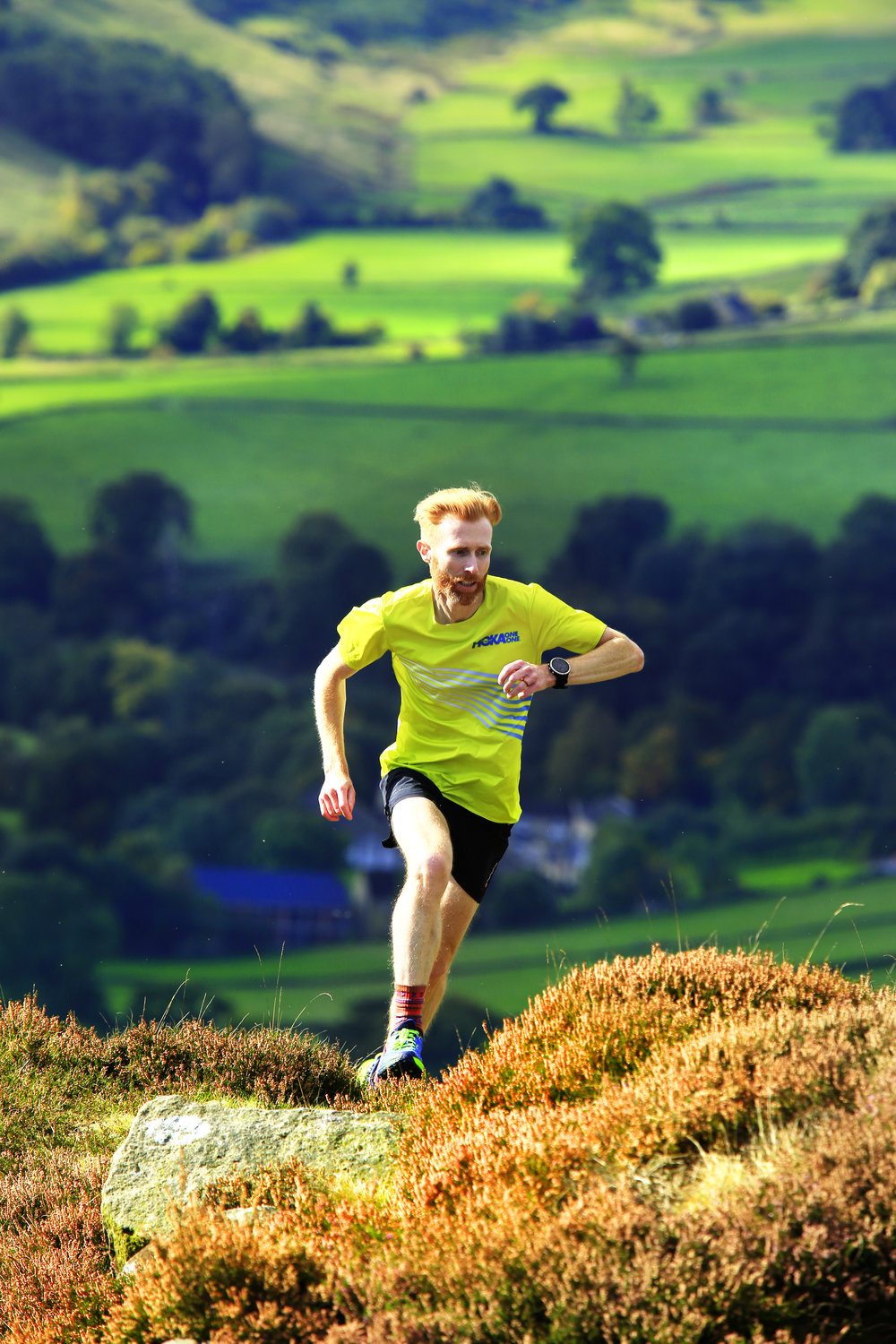 Marcus Scotney on Curbar Edge in the Peak District (pic: Tom Bailey)