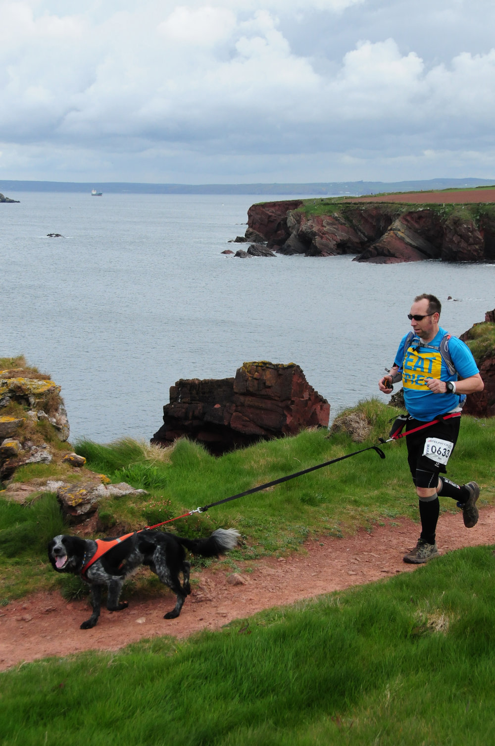 Neil Shoesmith and Spud (pic credit: Endurancelife Pembrokeshire)