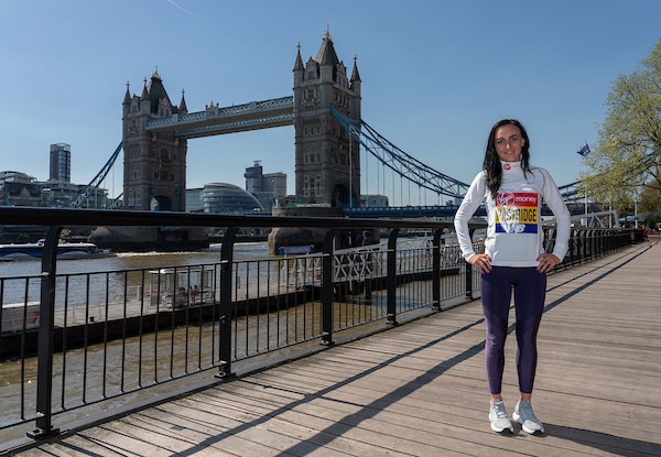 Lily Partridge: Britain's top woman finisher at the Virgin Money London Marathon. Pic credit: Virgin Money London Marathon