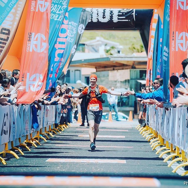 Damian Hall with that finish line feeling! 😄🙌🏼 #Repost @ultra_damo