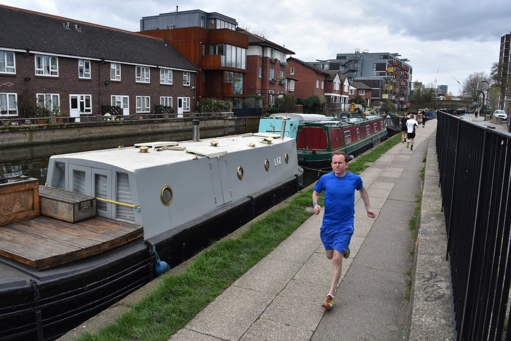Running the Regent's Canal in mid-April and feeling unfit (pic: Tom Bailey)
