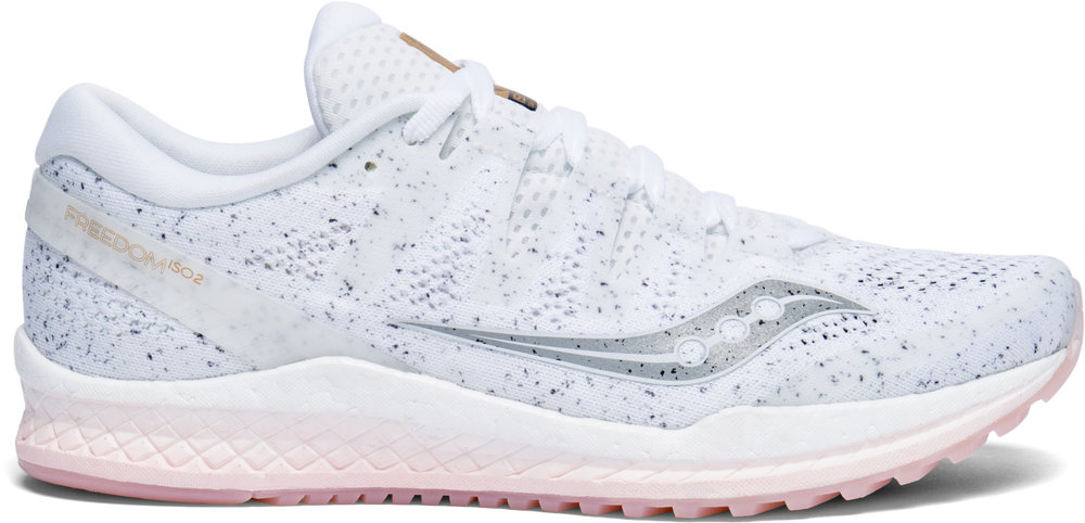 White on:The women's version of the Saucony Freedom