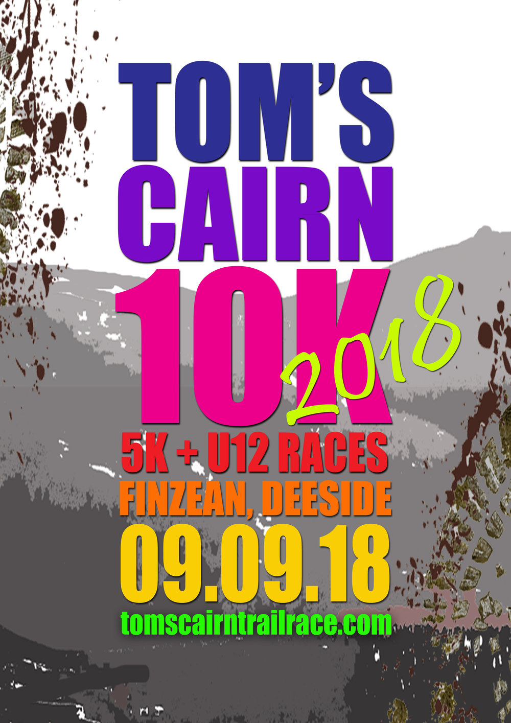The third Tom's Cairn 10k, 5k and primary kids races will be held in Finzean on Sunday September 9