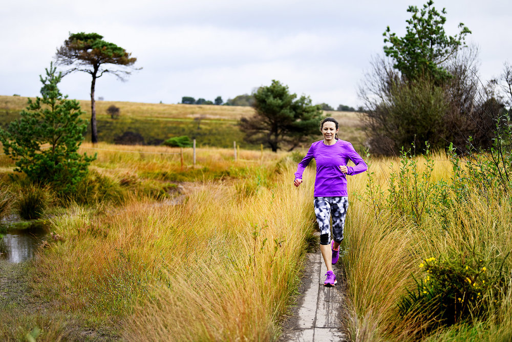 Five-time Olympian Jo Pavey on Woodbury Common, one of her favourite trail routes