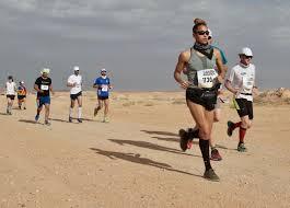 Competitors during the marathon