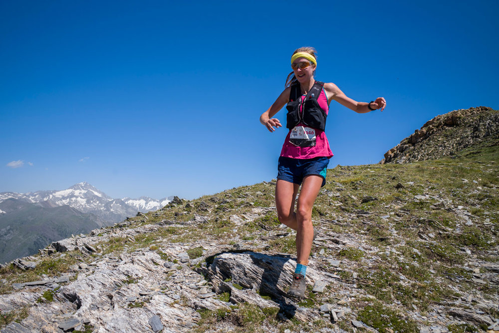 Britain's Holly Page winning in Spain last weekend to go top of the Skyrunner rankings (©quimfarrero.com / MRSWS