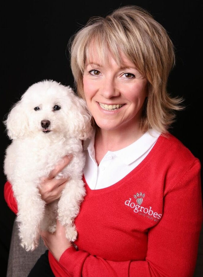 Margaret, owner, and her adorable toy poodle Missie.